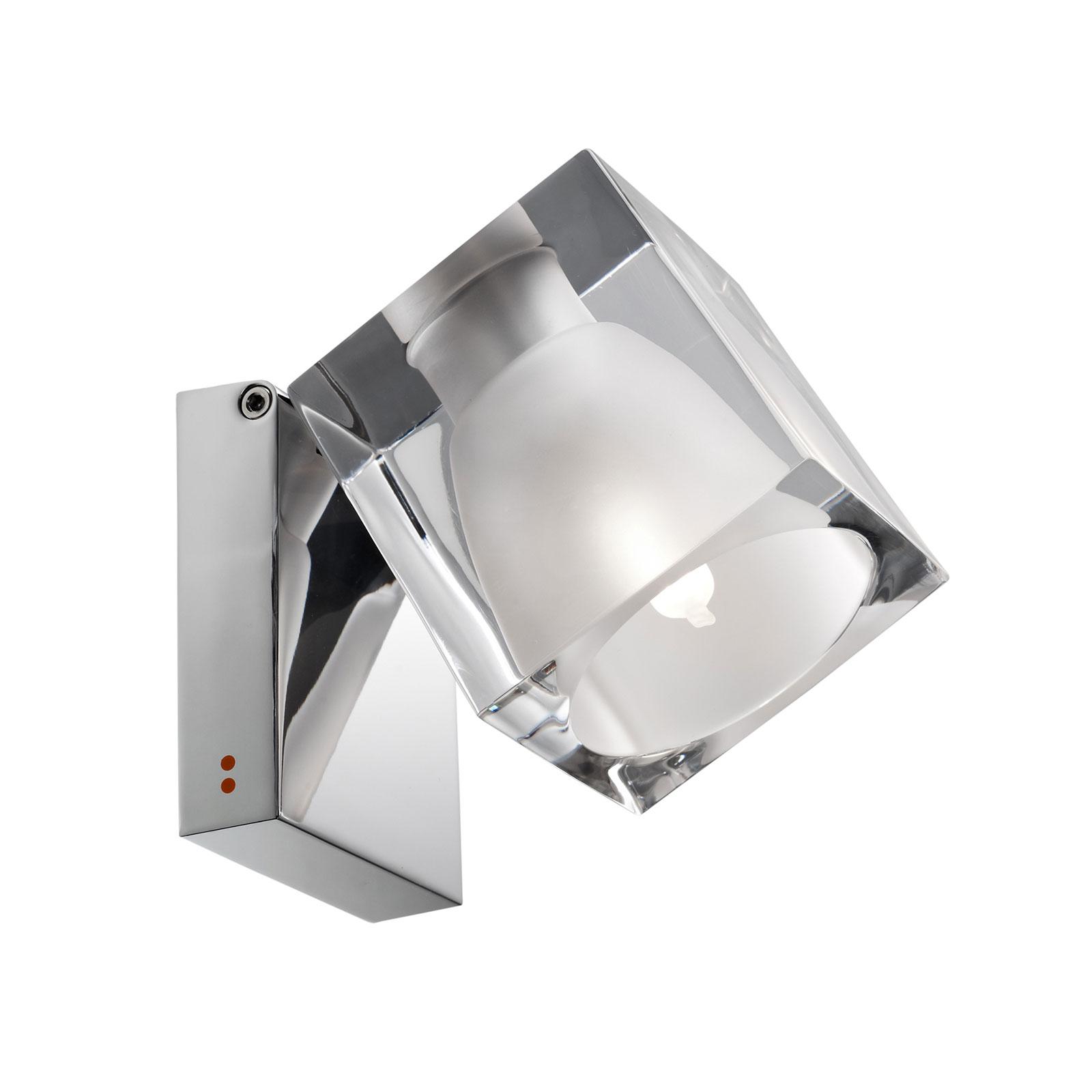 Fabbian Cubetto applique G9 chrome/transparent