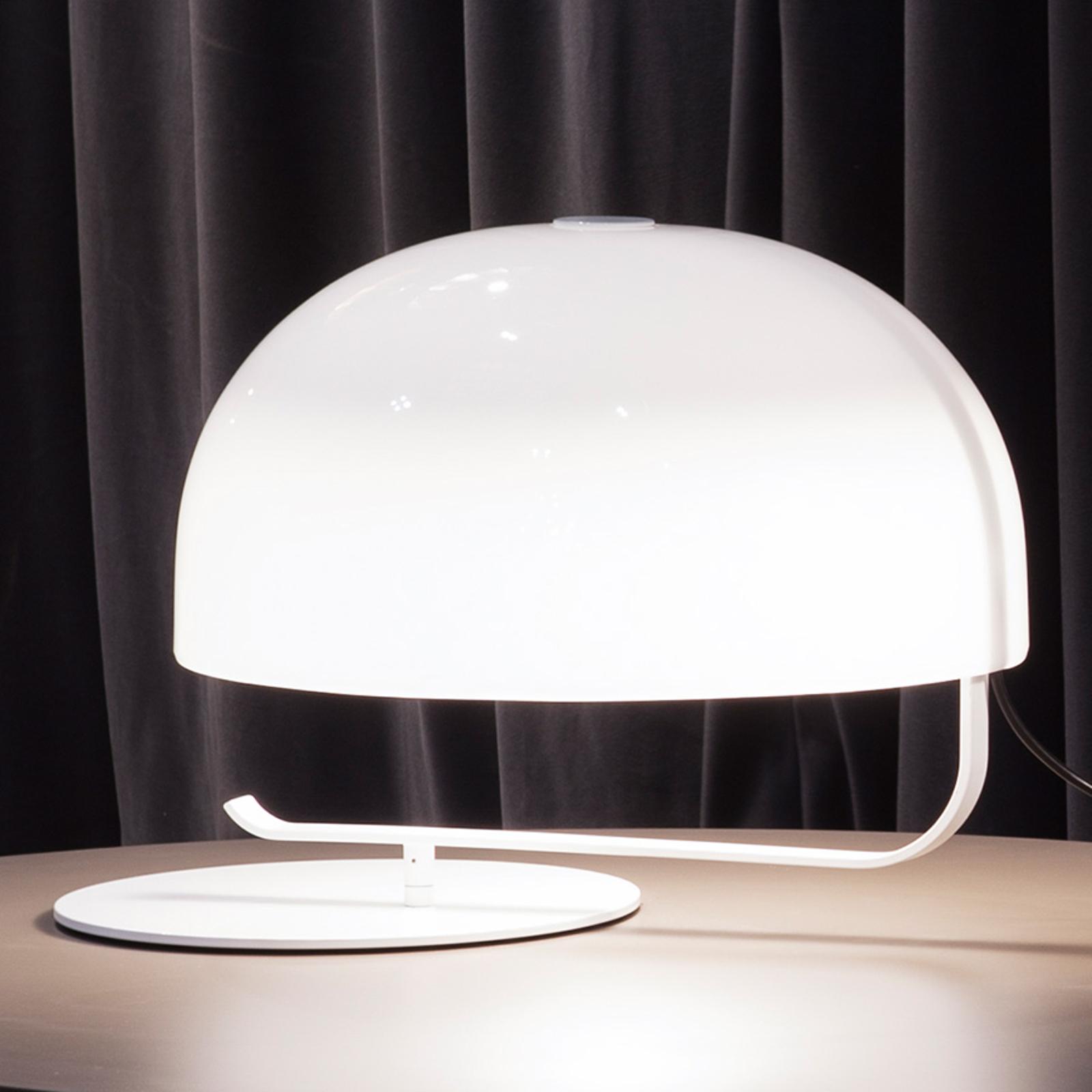 Lampada di design retrò Zanuso in bianco