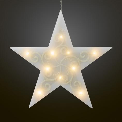 LED-Dekostern, 5-zackig, weiß Lichterkette innen