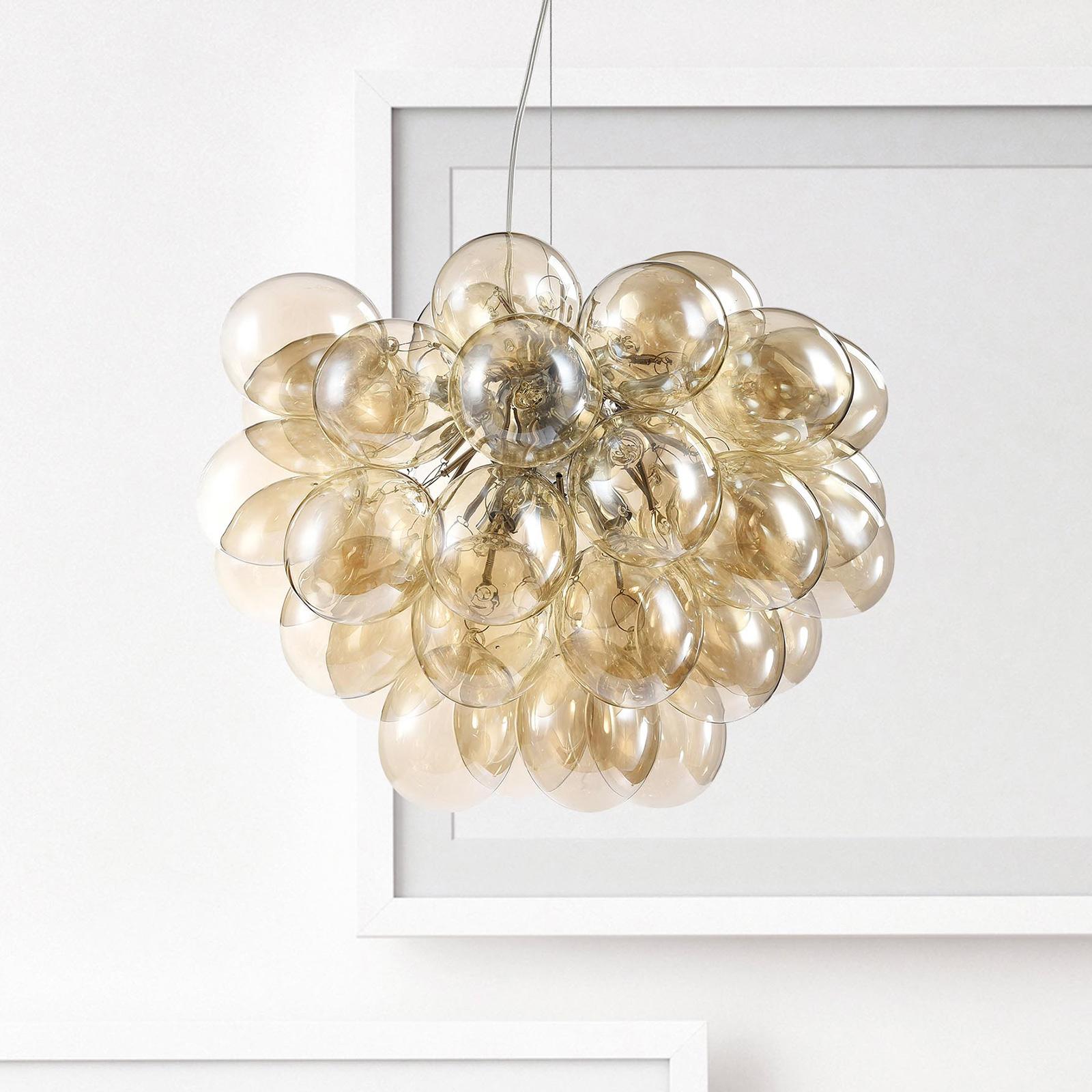 Hanglamp Balbo in geelbruin