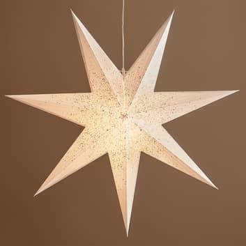 Gwiazda dekoracyjna Olivia w kolorze białym
