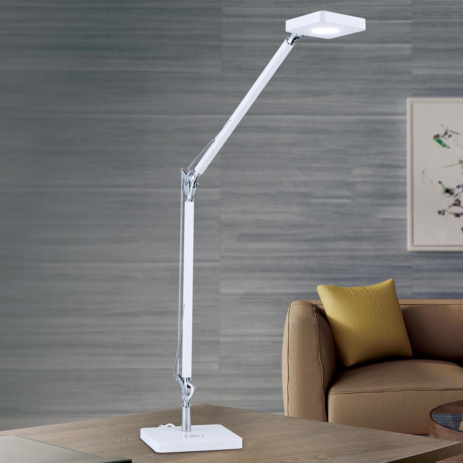 QI-fähige LED-Schreibtischleuchte Dave in Weiß