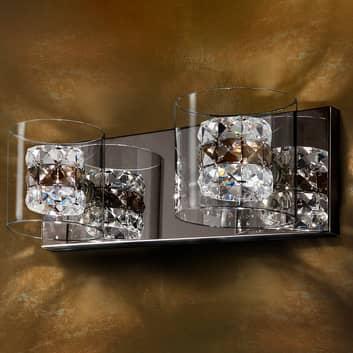 LED-Wandleuchte Flash mit Kristallringen