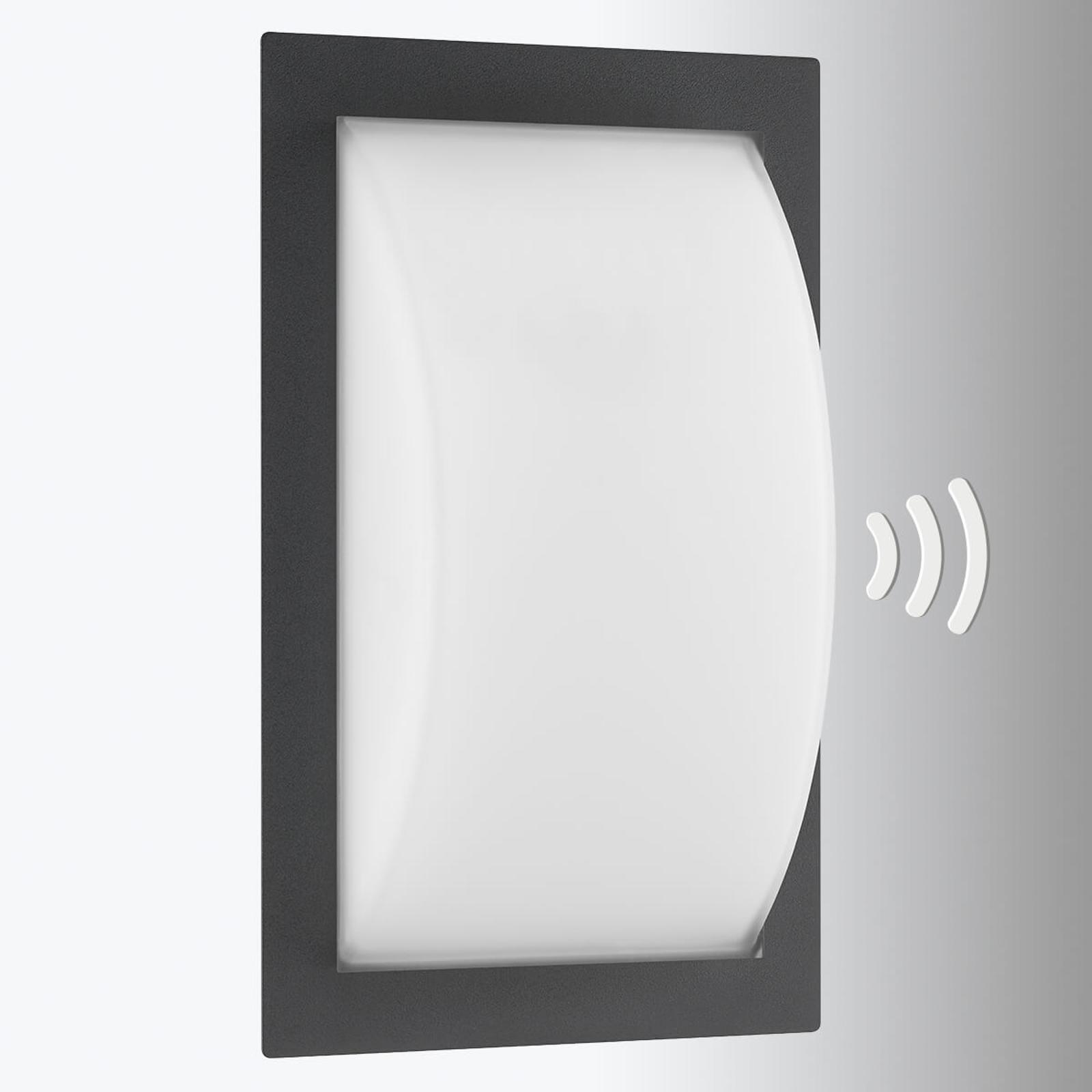 LED buitenwandlamp Ivett grafiet bewegingsmelder