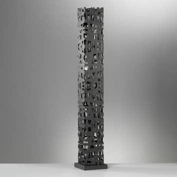 Vloerlamp Foresta van zwart metaal, hoogte 102cm