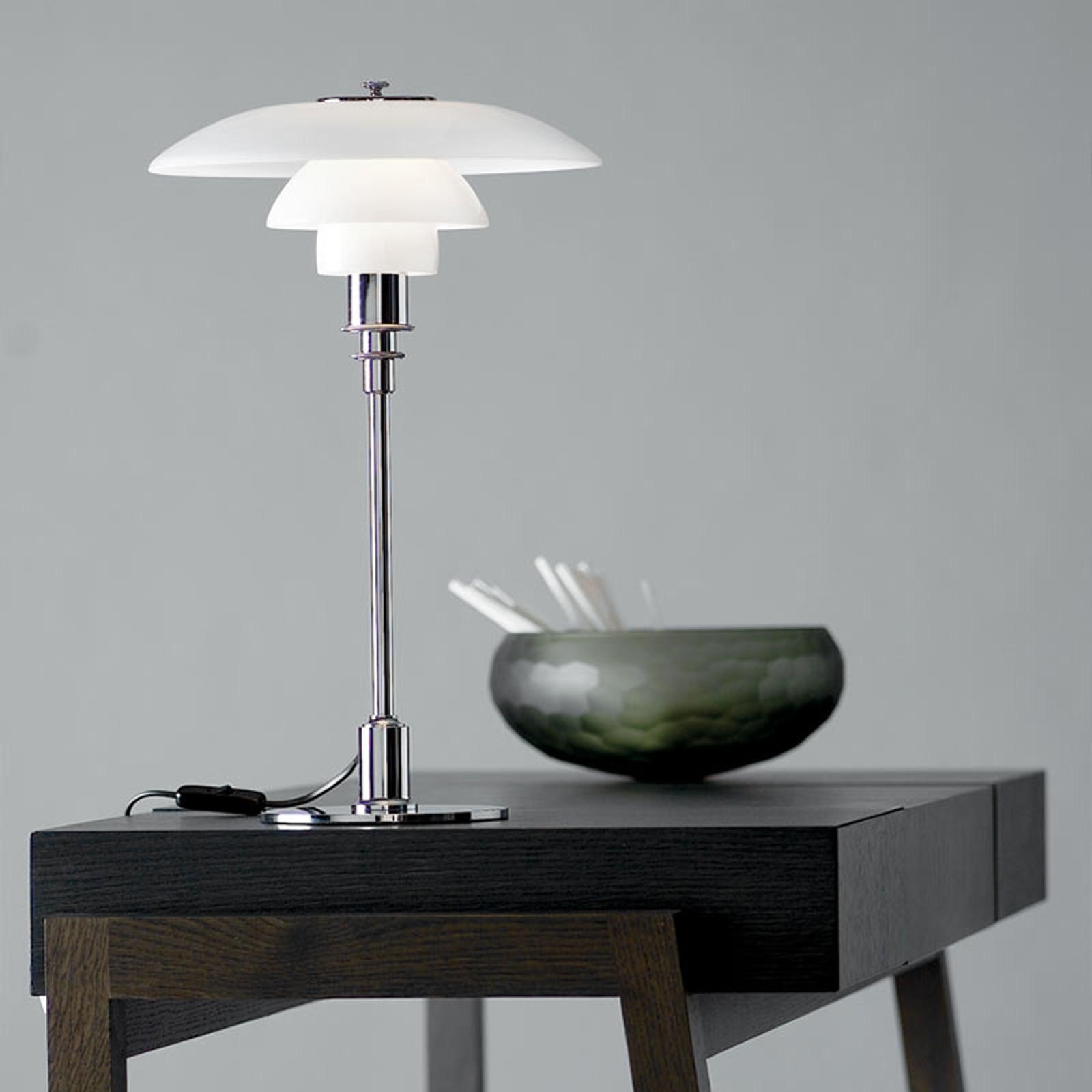 Louis Poulsen PH 3/2 stolní lampa pochromovaná