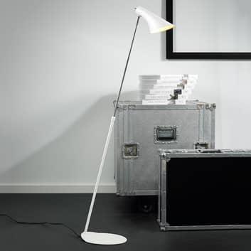 lampada da terra Liam, flessibile, bianca