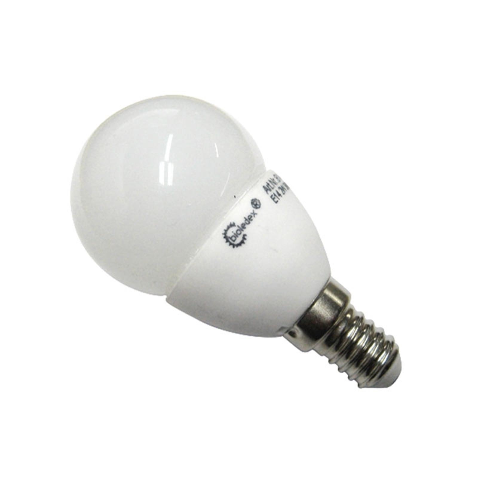 E14 3W LED žárovka Tema ve tvaru kapky