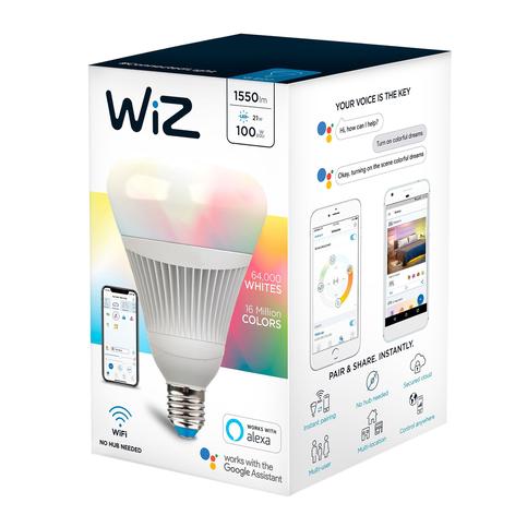 WiZ E27 żarówka LED matowa Ø12cm RGBW 2200-6500K