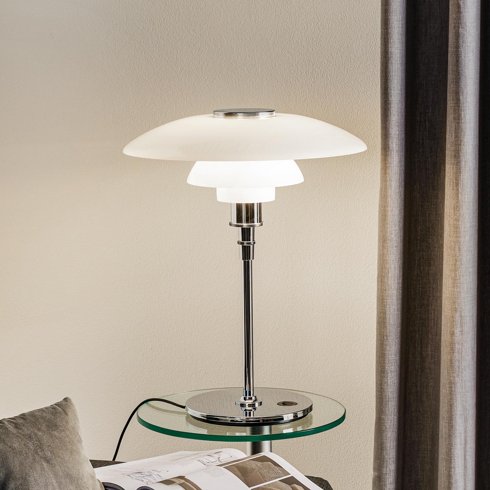 Louis Poulsen PH 4 1/2-3 1/2 tafellamp chroom/wit