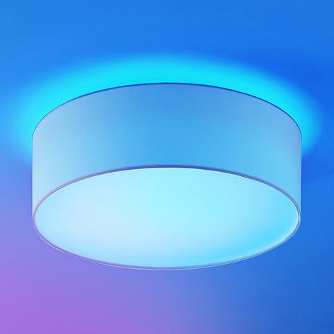 Lindby Finnek RGB LED-taklampe, tekstilskjerm