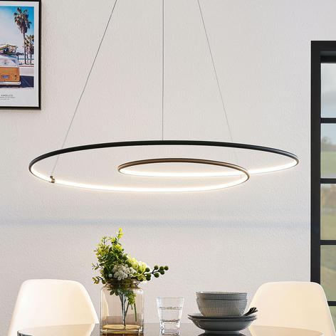 Lindby Lucy LED hanglamp, 90 cm, zwart mat