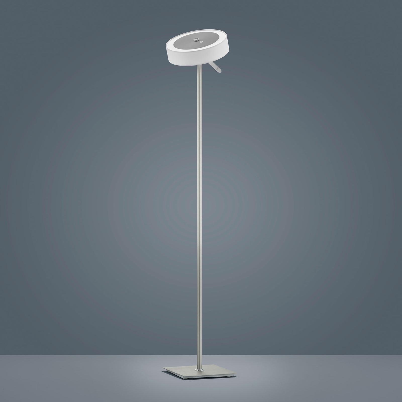 Helestra Bora lampa stojąca LED, klosz biały