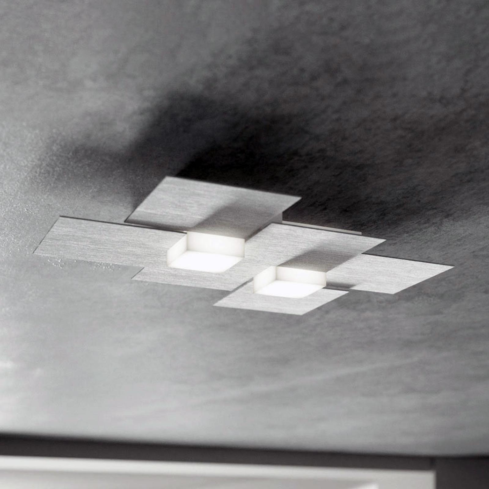 GROSSMANN Creo lampa sufitowa LED 2-pkt. aluminium