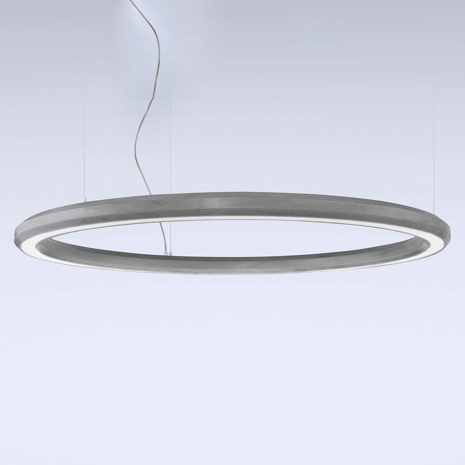 LED-Hängeleuchte Materica unten Ø 120 cm beton