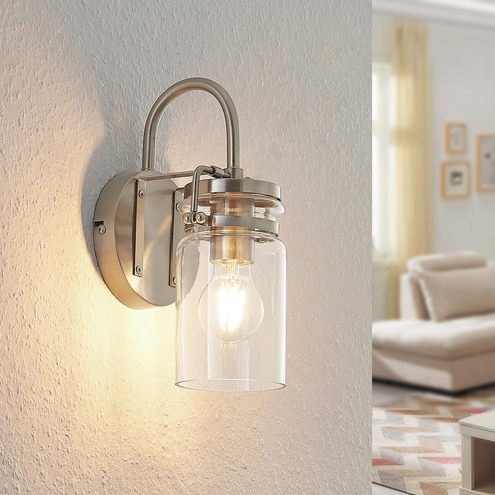 Lindby Vintus wandlamp, nikkel