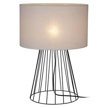 Lámpara de mesa Valene con pantalla textil
