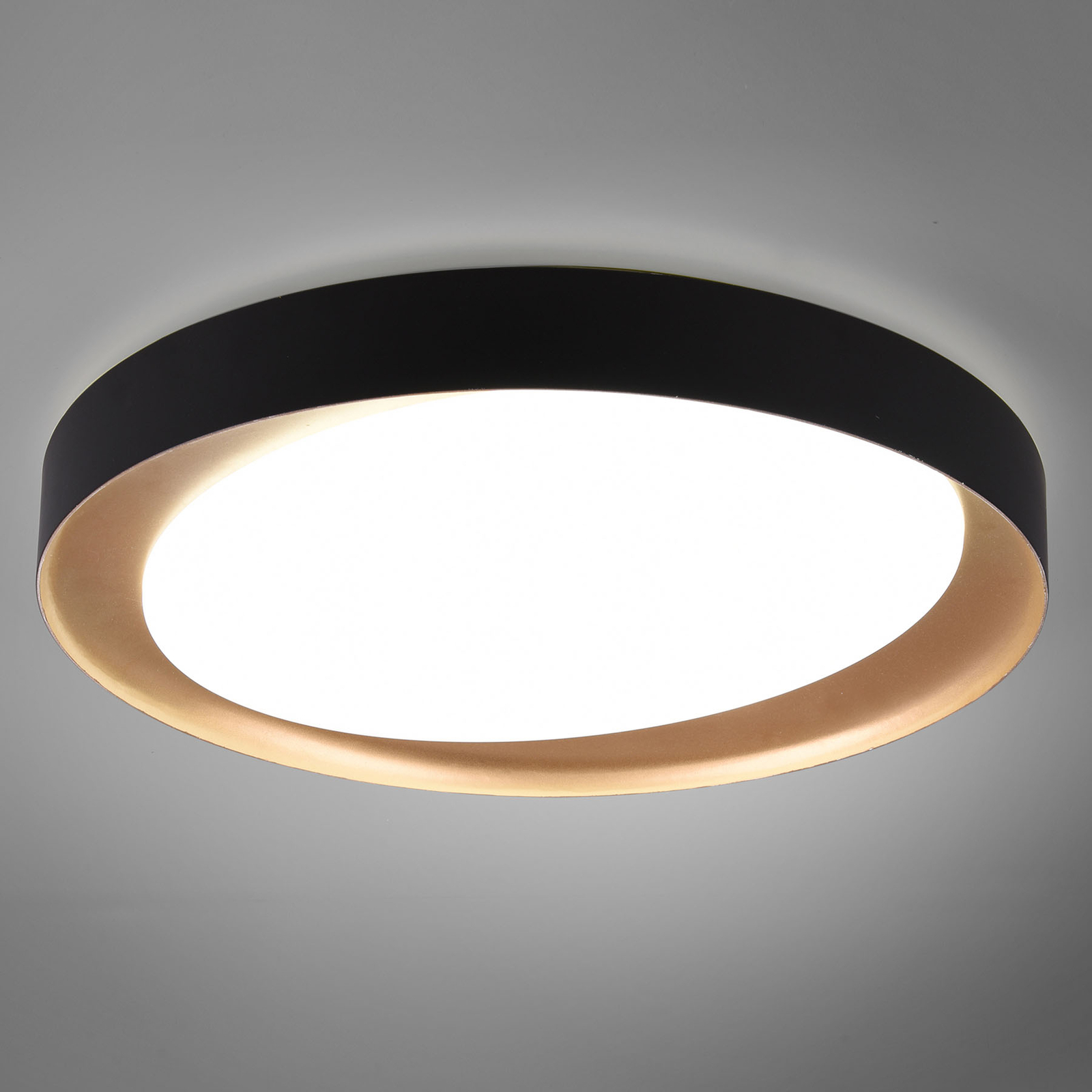 LED-Deckenleuchte Zeta tunable white, schwarz/gold
