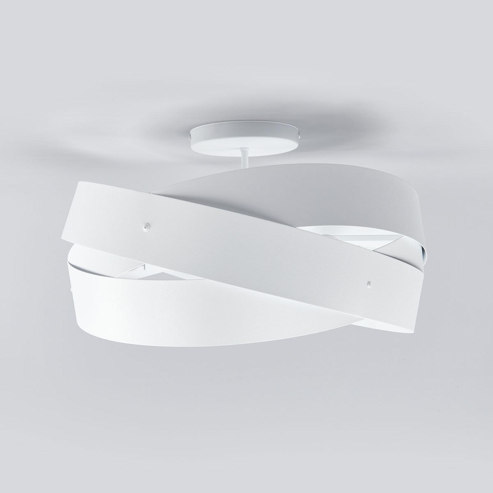 Tornado – biała lampa sufitowa o pięknym kształcie