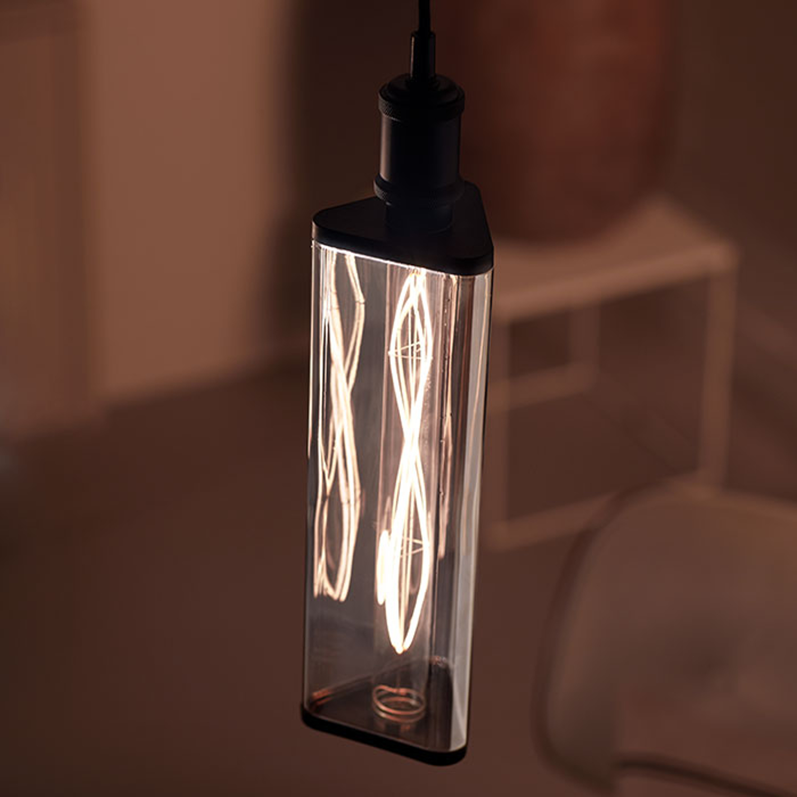 Philips Crystal Giant smoky ampoule LED E27 6,5 W