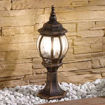 Sokkellamp Nadesha, geborsteld goud