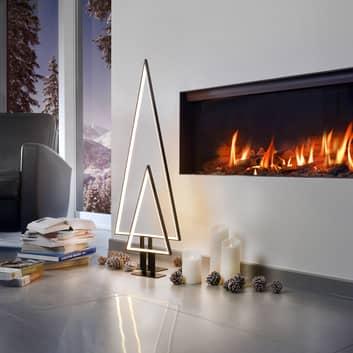 100 cm høy LED-dekorlampe Pine svart