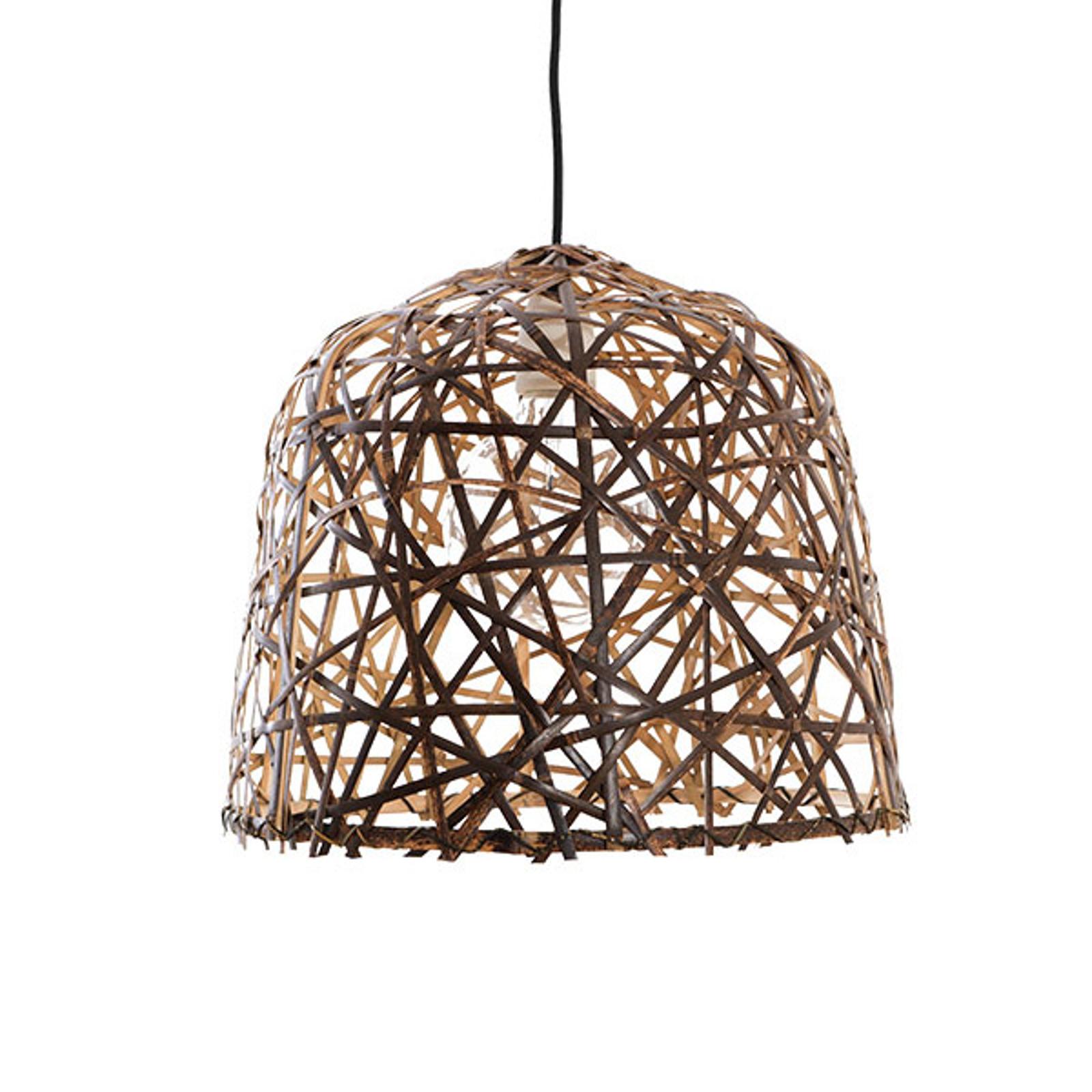 Lampa wisząca Black Bird's Nest small z bambusa