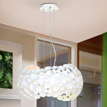 Lámpara colgante LED Narisa 5xG9, Ø47cm, blanca