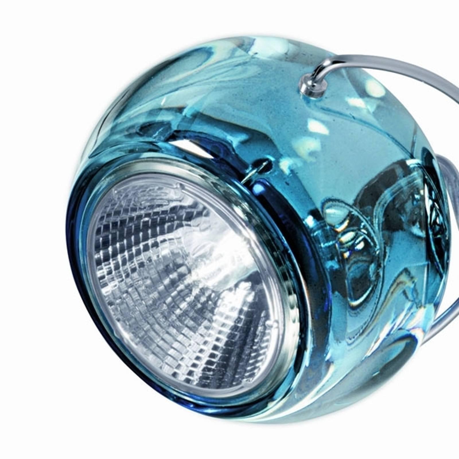 Chique design hanglamp BELUGA COLOUR blauw