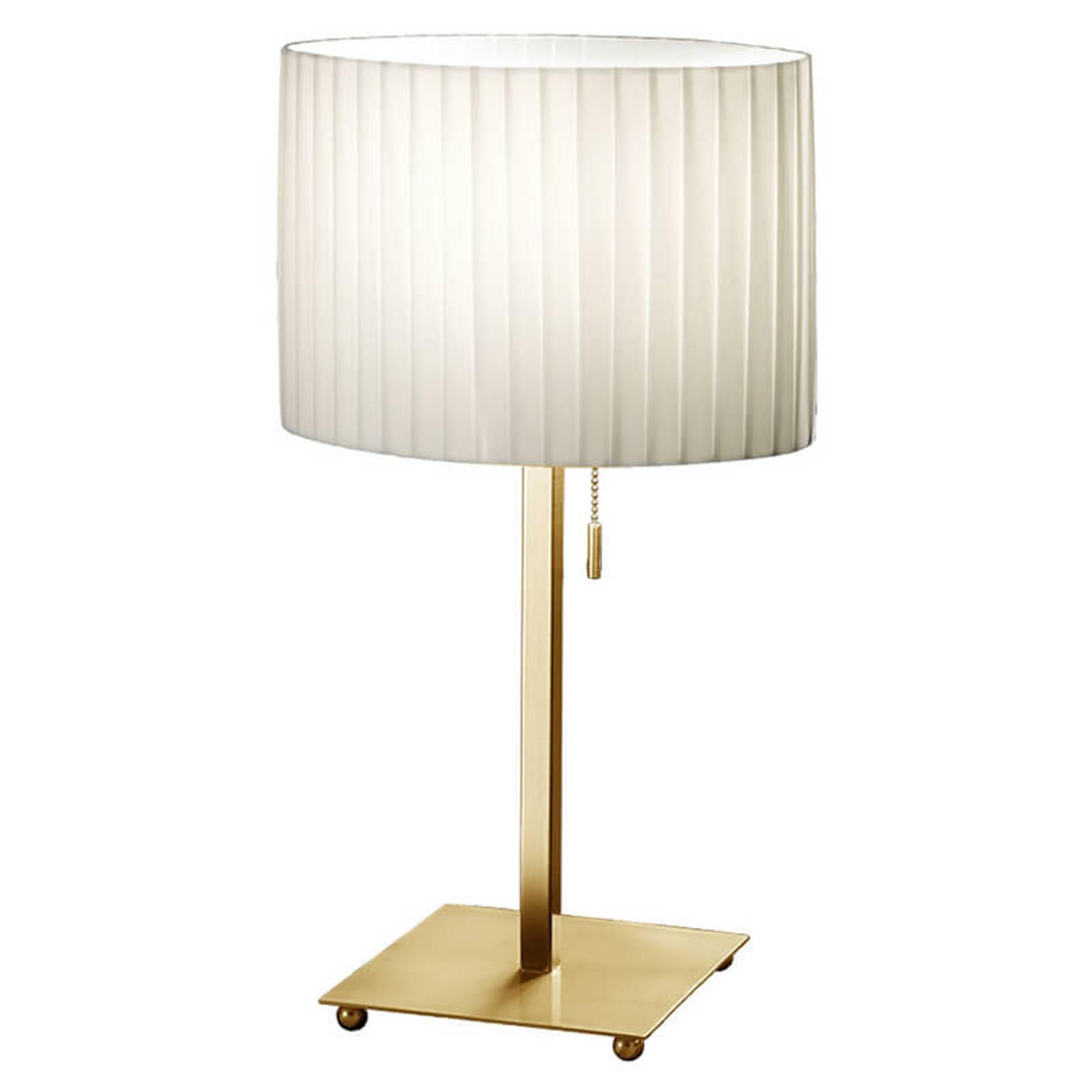 KOLARZ Sand - tafellamp met plissé kap