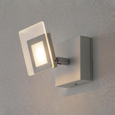 Moderno spot LED da parete Line, bianco