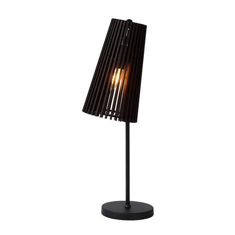 Lampe à poser Noralie abat-jour lamelles de bois