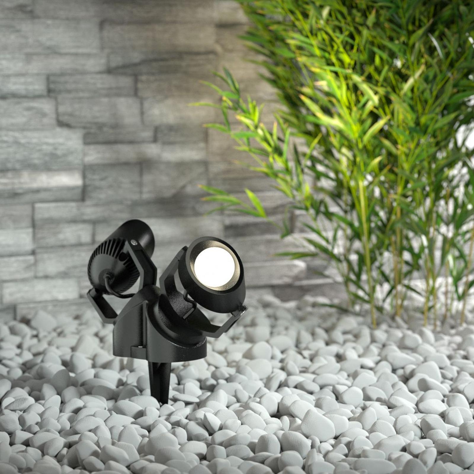 Spießspot Minitommy-EL 2-fl. CCT schwarz/frosted