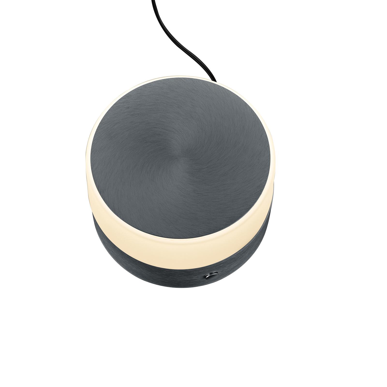 BANKAMP Button LED-Tischlampe Höhe 11cm anthrazit