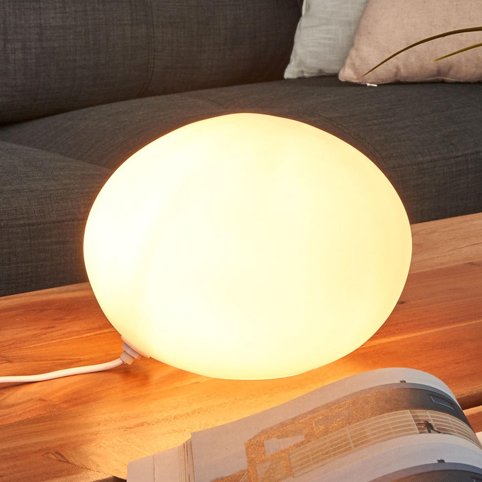 Decoratieve tafellamp Glas Oval, diameter 24 cm