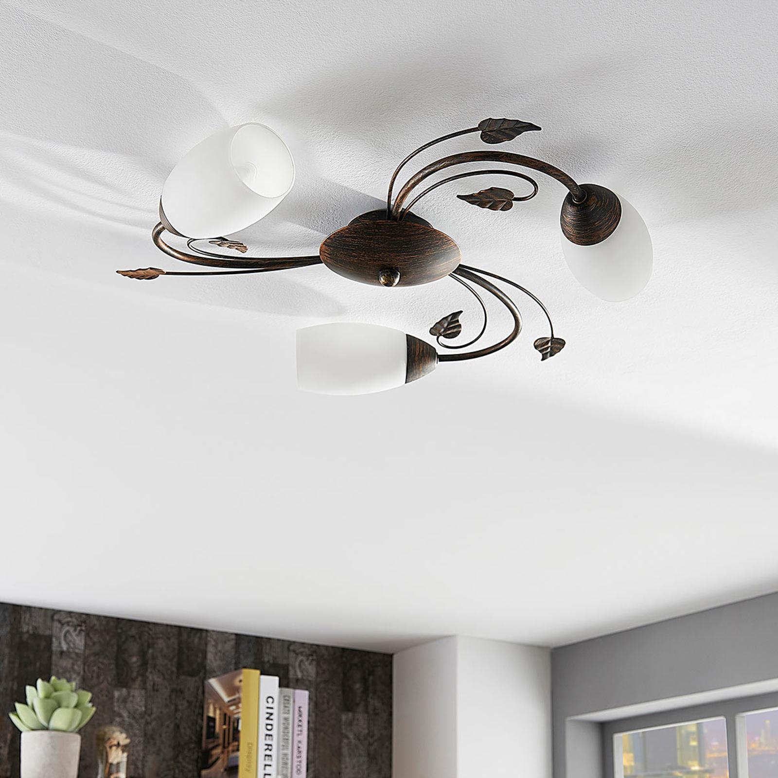 LED-taklampe Stefania med tre lys