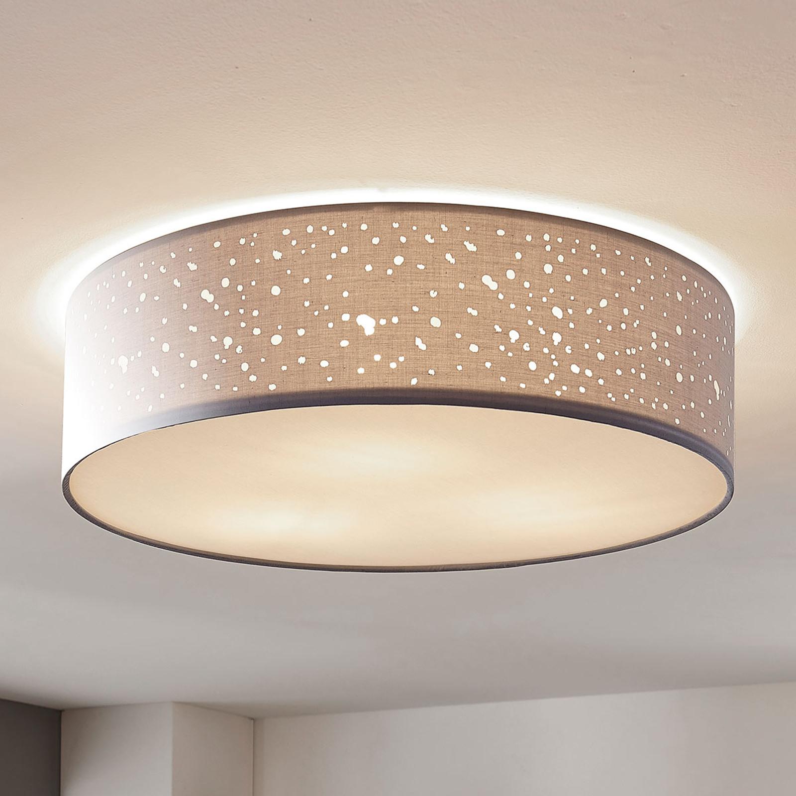 Stropní svítilna Umma, přímo na stropě, šedá