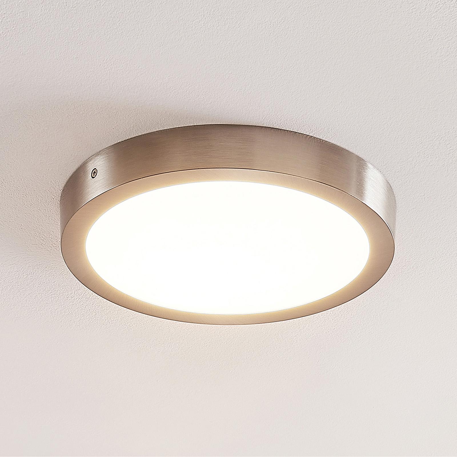 ELC Merina LED-Deckenleuchte nickel, 30cm