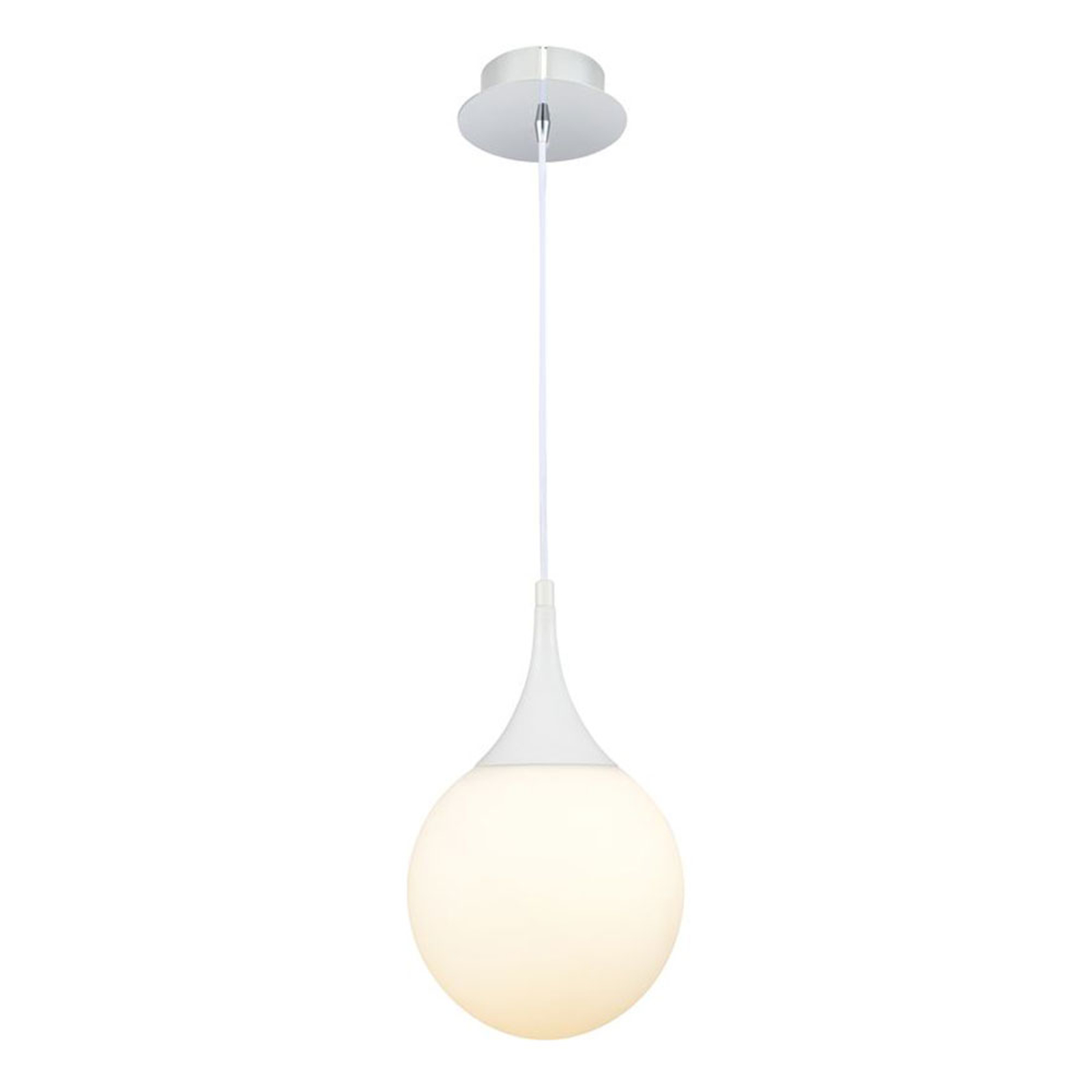 Lampada a sospensione Dewdrop bianca 20cm