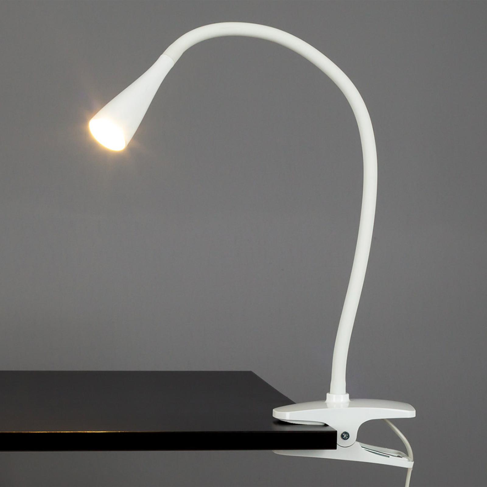 Esbelta lámparaLED de pinzaBaris blanca