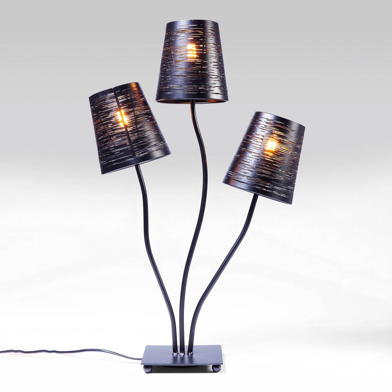 KARE Flexibele zwart Tre tafellamp
