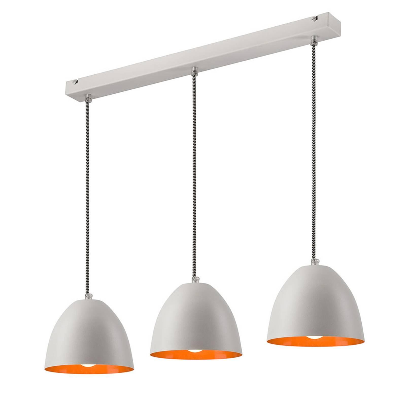 Suspension Atlantik à trois lampes, blanche