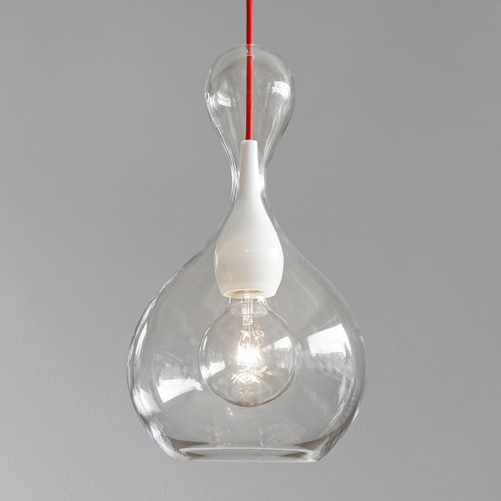 next Blubb - pendellampe i glas, klar