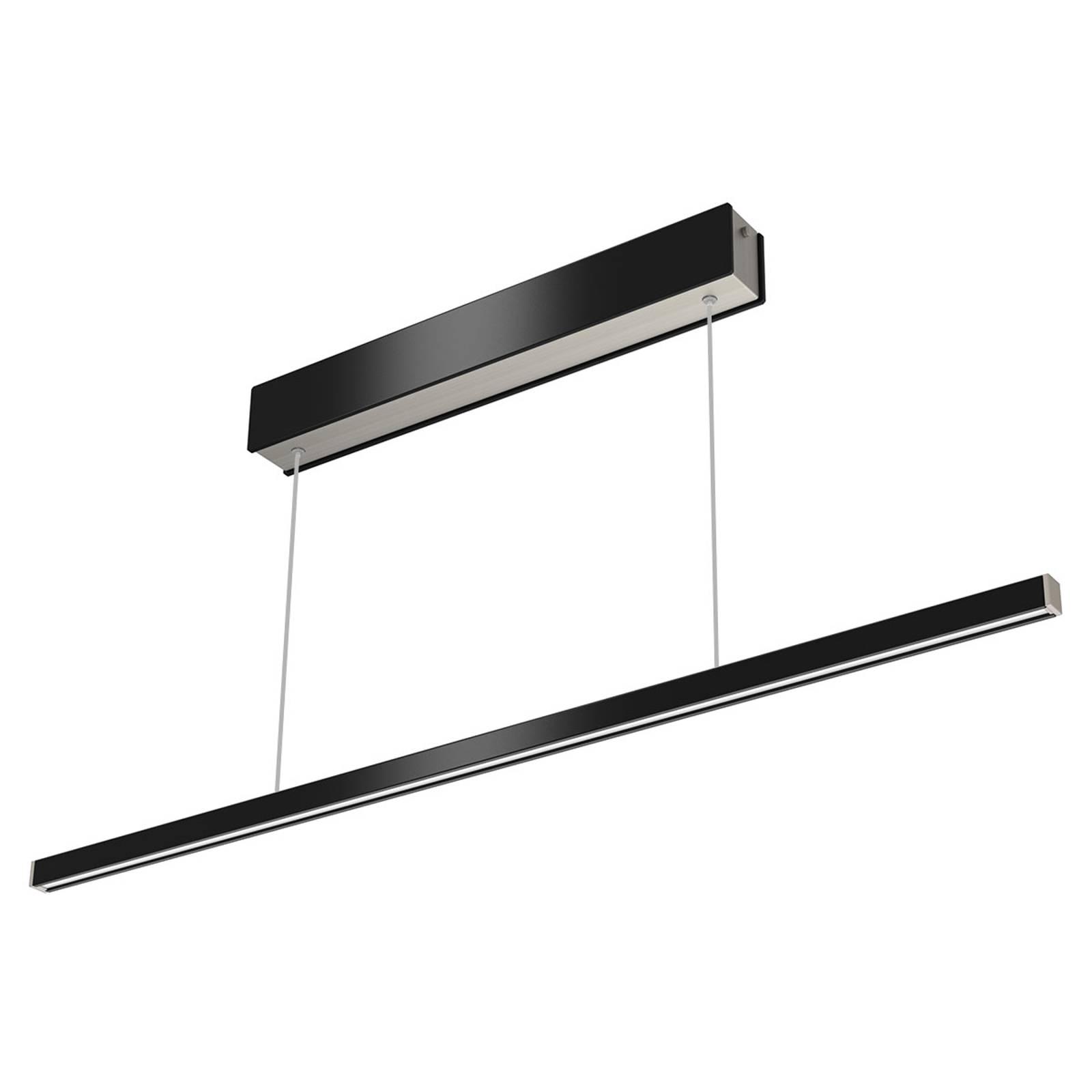 Fernbedienbare LED-Pendelleuchte Orix schw. 90 cm