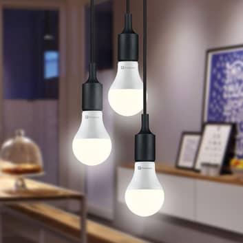 Paulmann-LED-lamppu E27 9W 2700K opal 3 kpl