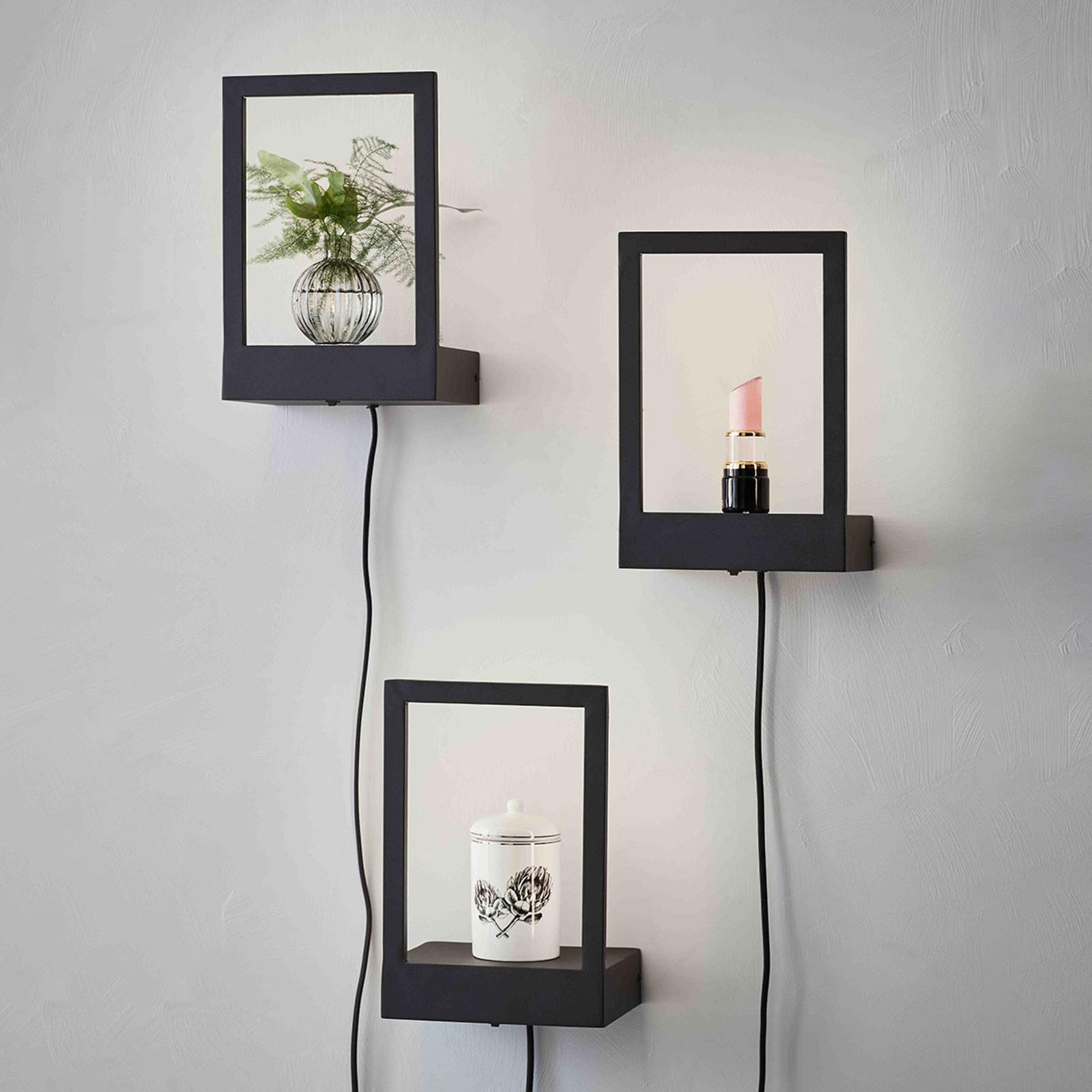 LED-Wandleuchte Pablo mit Stecker und Schalter