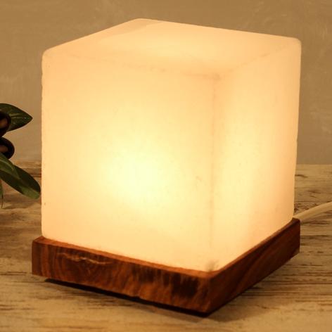 Boeiende tafellamp kubus White Line