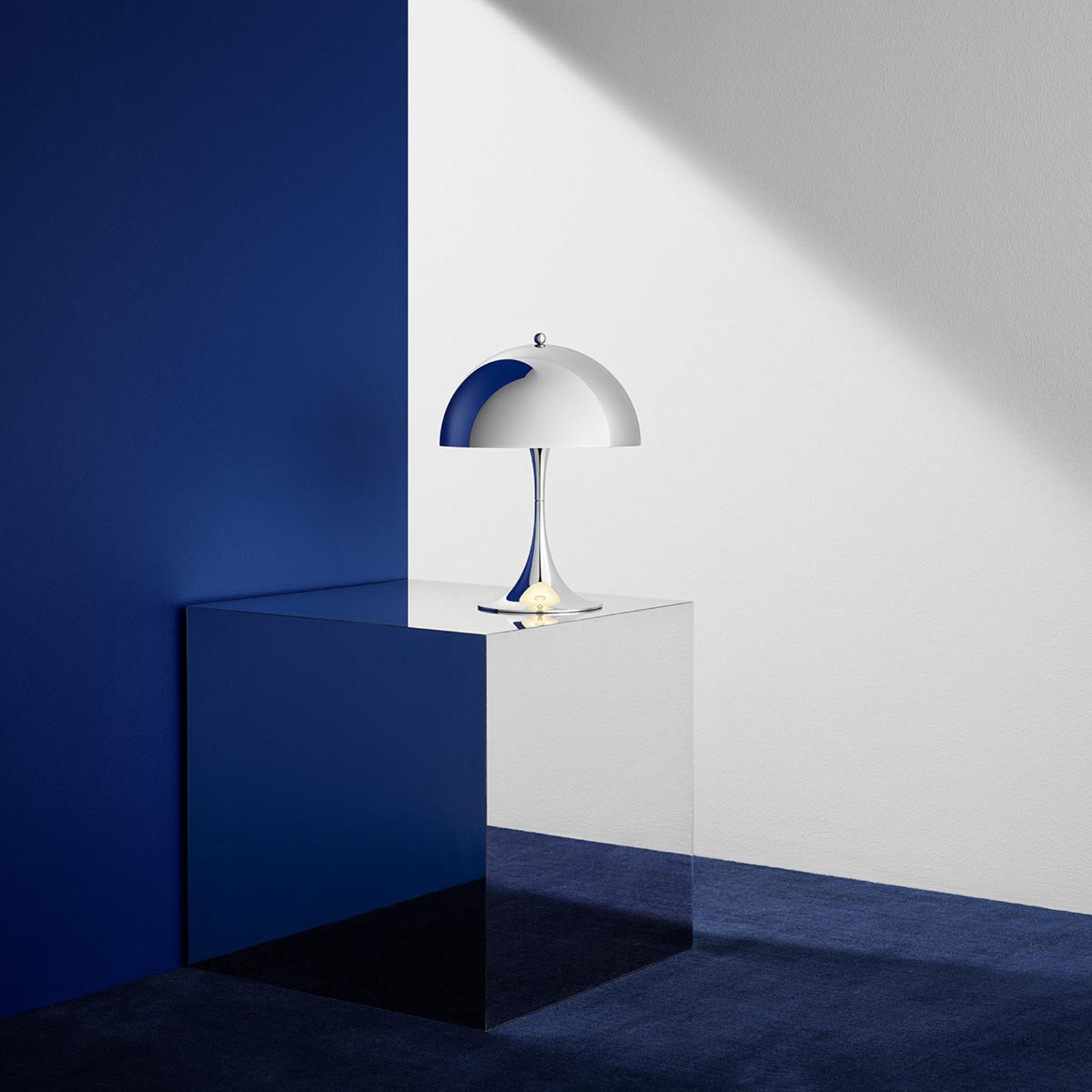 Louis Poulsen Panthella Mini LED-Tischlampe chrom