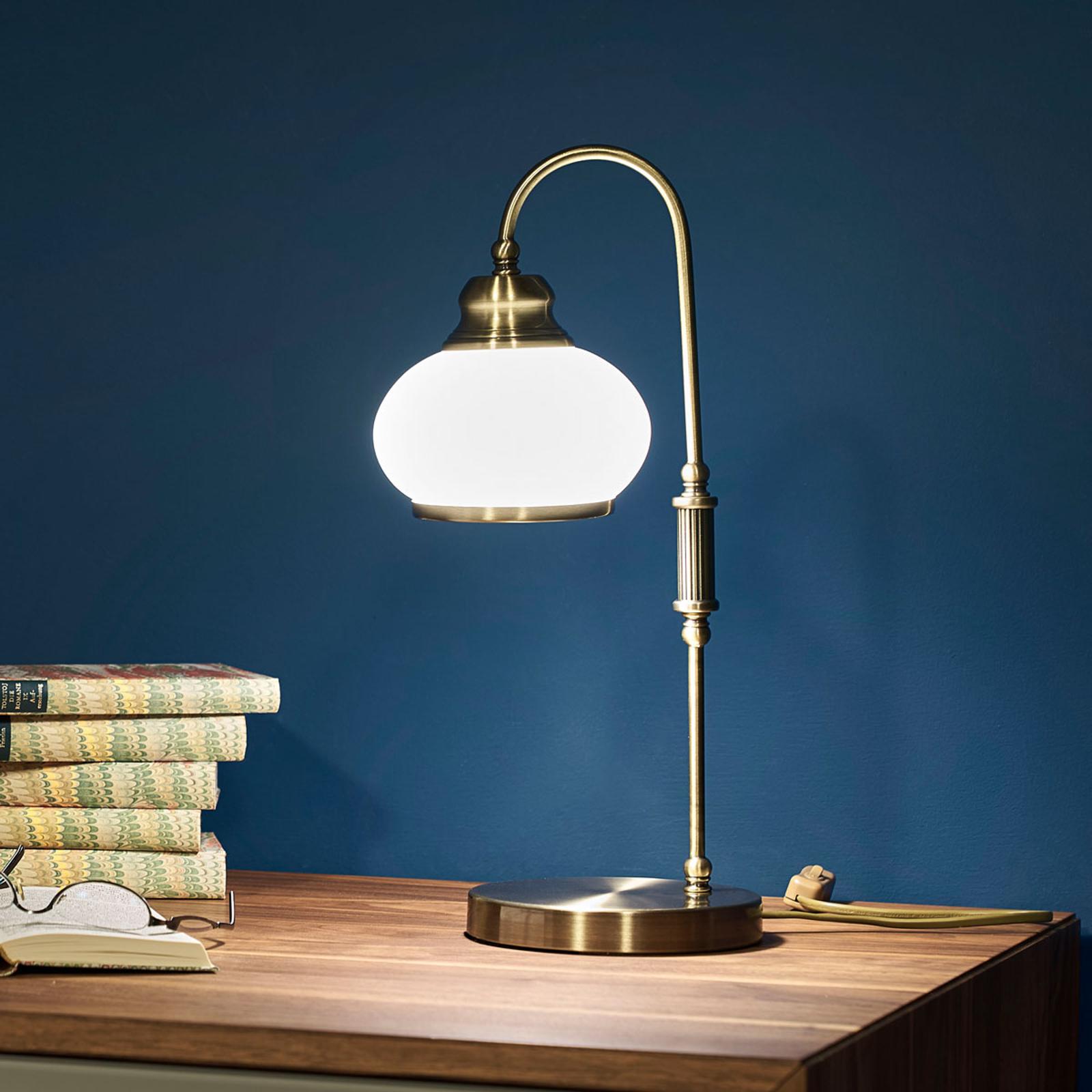 Tafellamp NOSTALGIKA, oud-messing