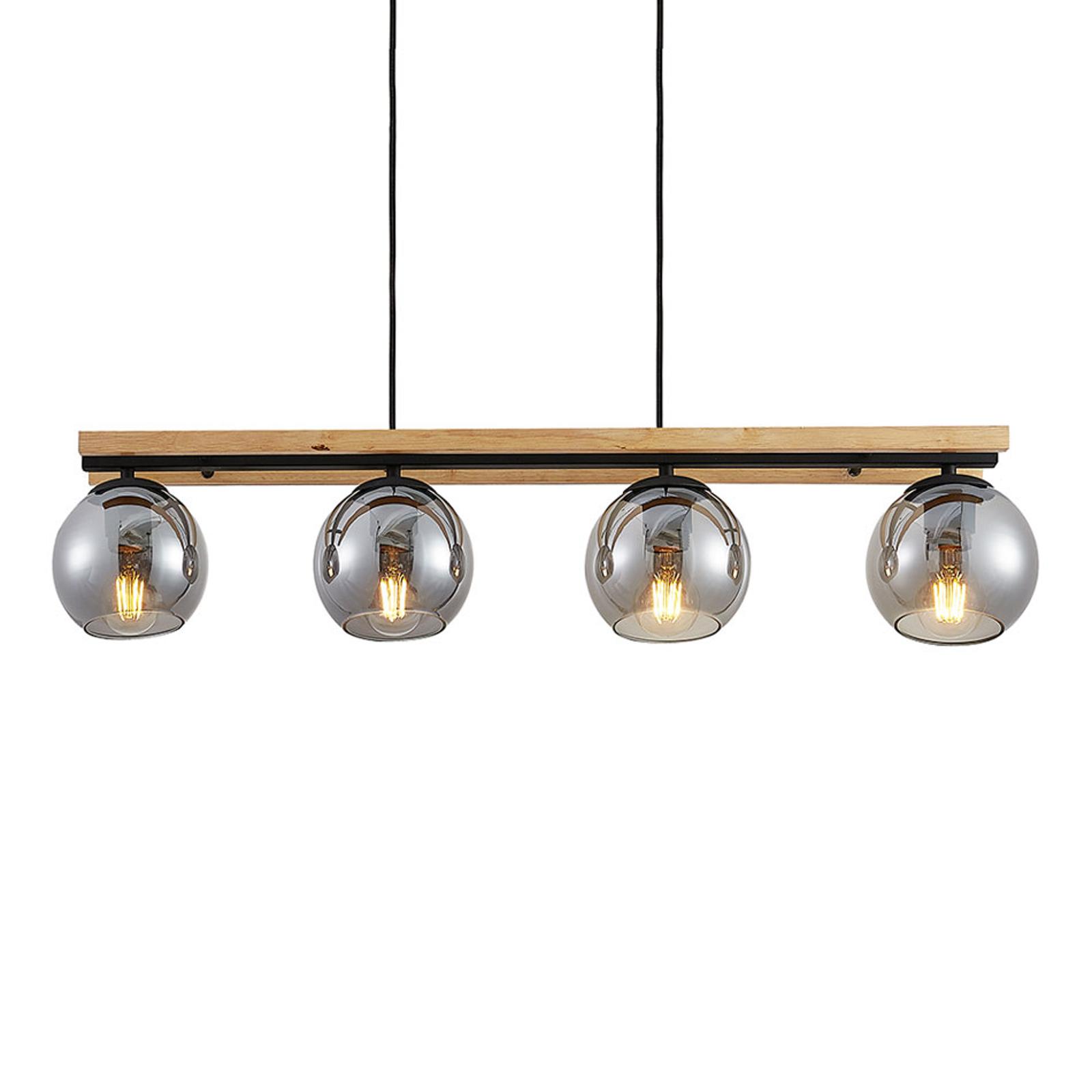 Lindby Philika glas-hanglamp, 4-lamps